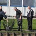 Forellenvijver afvissen  De Schutskooi Oijen 20-03-12