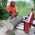 Verwijderen omgewaaideboom bij ijzeren brug 16-05-2013